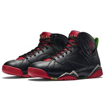 Nike Jordan Men's Air Jordan 7 Retro Blck/Unvrsty Rd/Grn Pls/Cl Gry Bask... - $197.95