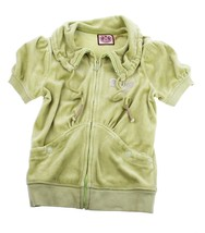 Juicy Couture Velour Jacket Tennis Green Womens Sports S 2/4 girls 14/16 - $9.89