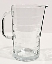 "IKEA Clear Ribbed Glass 1 Qt. Pitcher 7.5 x 4"" Made in Italy 10288 EUC - $25.00"