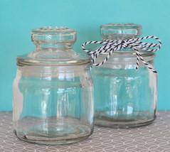 50 DIY Blank Small Glass Cookie Jar Birthday Baby Bridal Holiday Gift Favor - $92.10