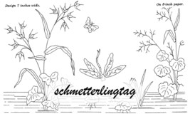 1888 Victorian Splasher Embroidery Iron-on Transfer Pattern DIY Washstand Design - $5.99
