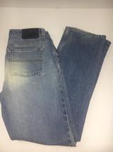 Express Men's Precision Fit  Blue Jeans  Distress Denim Size 9/10 - $10.39