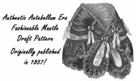 Antebellum Civil War Mantle Fichu Pattern Draft 1857 - $5.99