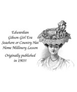 1903 Seashore Country Hat Instructions Pattern Victorian Edwardian Gibso... - $5.99
