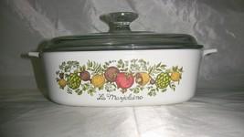 Vintage Corningware Spice of Life La Marjolaine 2 Liter Casserole Dish W... - $42.99