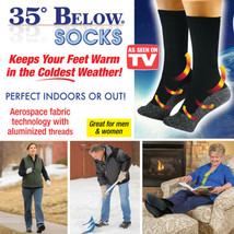 35 Below Socks Keep Your Feet Warm and Dry 1 pr As Seen On TV Aluminized... - $13.46