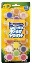 Crayola 18 Count Assorted Colors Washable Kid's Paint 54-0125  - $6.93