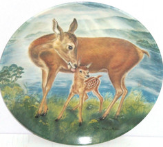 Deer Fawn Baby Collector Plate Reassuring Touch Wildlife Hicks Knowles V... - $59.95
