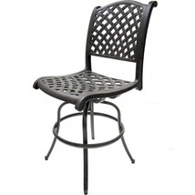 Outdoor Swivel Bar Stools Set of 4 Las Vegas Patio Furniture Sunbrella Cushions image 2