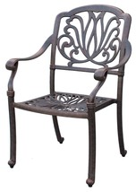 Patio dining set Elisabeth 11pc outdoor furniture Cast Aluminum chairs and table image 2