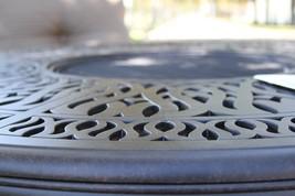Patio 5 piece set outdoor Furniture Cast Aluminum bar height Elisabeth Bronze image 3