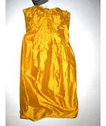 Womens 4 NWT $1950 38 Malandrino Honey Gold Silk Strapless Dress New USA... - $877.50