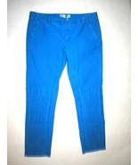 New NWT Designer MSGM Skinny Moto Pants Blue Italy 42 Womens 6 Crop Flat... - $360.00