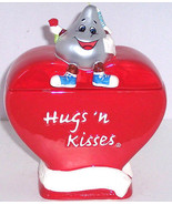 Hershey's Hugs Kisses Heart Red Candy Jar Valentines Day Gift  - $34.95