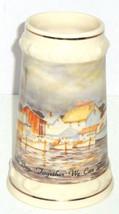 Budweiser Beer Stein Chesapeake Bay Storm Rock Hall 1991 Martha Hudson Vintage - $59.95