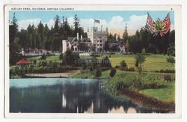 VICTORIA British Columbia BC, HATLEY PARK, c1930s vintage Canada postcard - $2.95