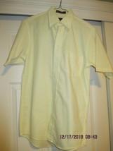 Men's Yellow Dress Shirt Short Sleeve SZ 14 ½ New - $9.99