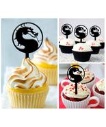 Cp177 cupcake toppers mortal kombat logo Package : 10 pcs - $10.00