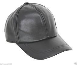 NEU Ledermütze Leder Cap Mütze Baseballmütze Leather Basecap Hat - ₨830.85 INR+