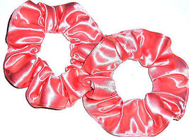 Coral Orange Spandex Hair Scrunchie Scrunchies by Sherry Swimwear Dancewear - $15.95