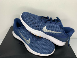NEW SIZE 5.5 WOMEN Nike Flex Trainer 7 Navy Blue Silver White Training G... - $33.65