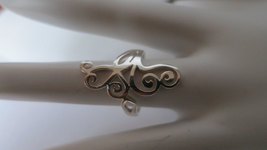 Silver butterfly ring; 92.5 sterling silver - $26.25