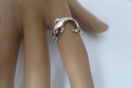 Silver dolphin ring; 92.5 sterling silver - $22.50