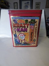Vintage 1982 KRAZY KAN Tin Canister Made in England Hinged Lid Catch All - $12.00