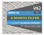 16 1/2 x 21 5/8 x 1 MERV 13 - Ultimate Allergen Reducing Pleated Air Filter 6 Pk