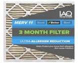 16 1/2 x 21 5/8 x 1 MERV 11 - Ultra Allergen Reducing Pleated Air Filter 6 Pk
