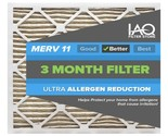 16 1/2 x 21 1/2 x 1 MERV 11 - Ultra Allergen Reducing Pleated Air Filter 6 Pk