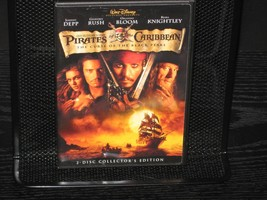 Pirates of the Caribbean: The Curse of the Black Pearl (DVD, 2003, 2-Dis... - $7.98