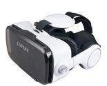 LUPHIE 3D VR Virtual Reality Headset with Stereo Headphone and Adjustable strap