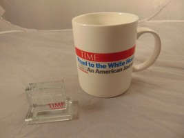 NIB NEW TIME 2012 Road To The White House Mug & Glass Paperweight  - $13.09