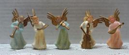 Vintage CHRISTMAS ANGELS Miniature Musician Ang... - $12.00