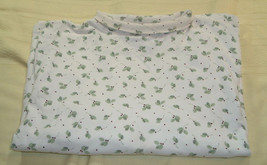 Holiday Lodge by North Crest White Long Sleeve Shirt Top Mistletoe Women... - $7.00