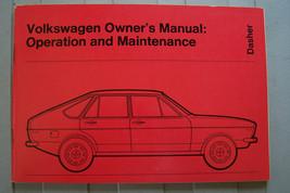 1974 vw dasher owners manual parts service  2 DOOR 4 DOOR WAGON new orig... - $14.99