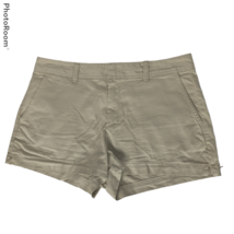 Gap Womens City Shorts Chinos Size 10 Beige Tan Flat Front Pockets - $20.79