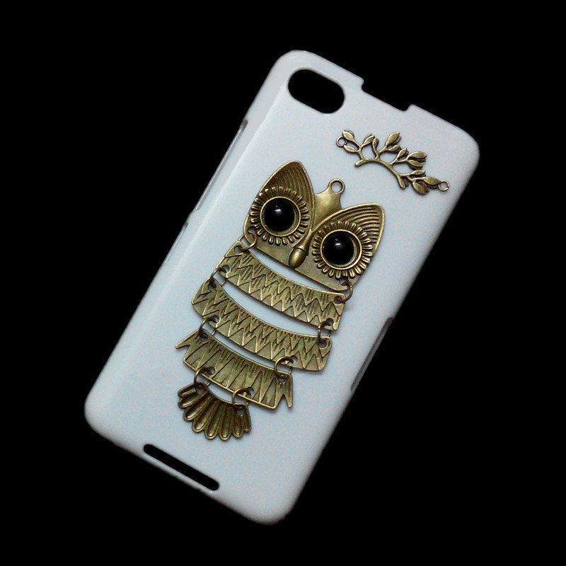 Cute Retro Bronze Metal Owl Branch Hard Back Skin Case Cover for Blackberry Z30 for sale  USA