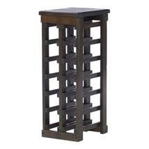 Wine Rack Wood Bar Liquor Bottle Holder Display Storage Floor Furniture ... - $134.99