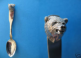 Dezadeash Yukon Bear Head Figural Souvenir Spoon - $7.99