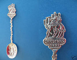 Christmas Santa Claus Wise Men Embossed Souvenir Spoon - $8.99