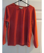 Eddie Bauer Womans Large Dark Orange Corduroy Shirt Quality - $9.99