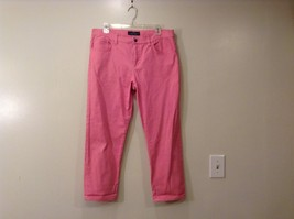 Ladies Pink Cropped Modern Straight Leg Capris by Ralph Lauren Size 12