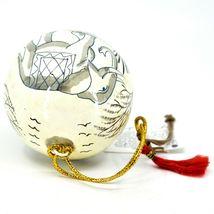 Asha Handicrafts Painted Papier-Mâché Grey Elephant Holiday Christmas Ornament image 6