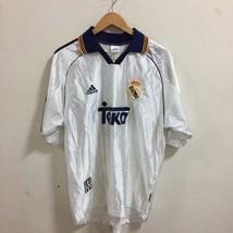 VTG REAL MADRID Retro Football Jersey  Soccer Shirt #16 Jaime  1998 - £45.38 GBP