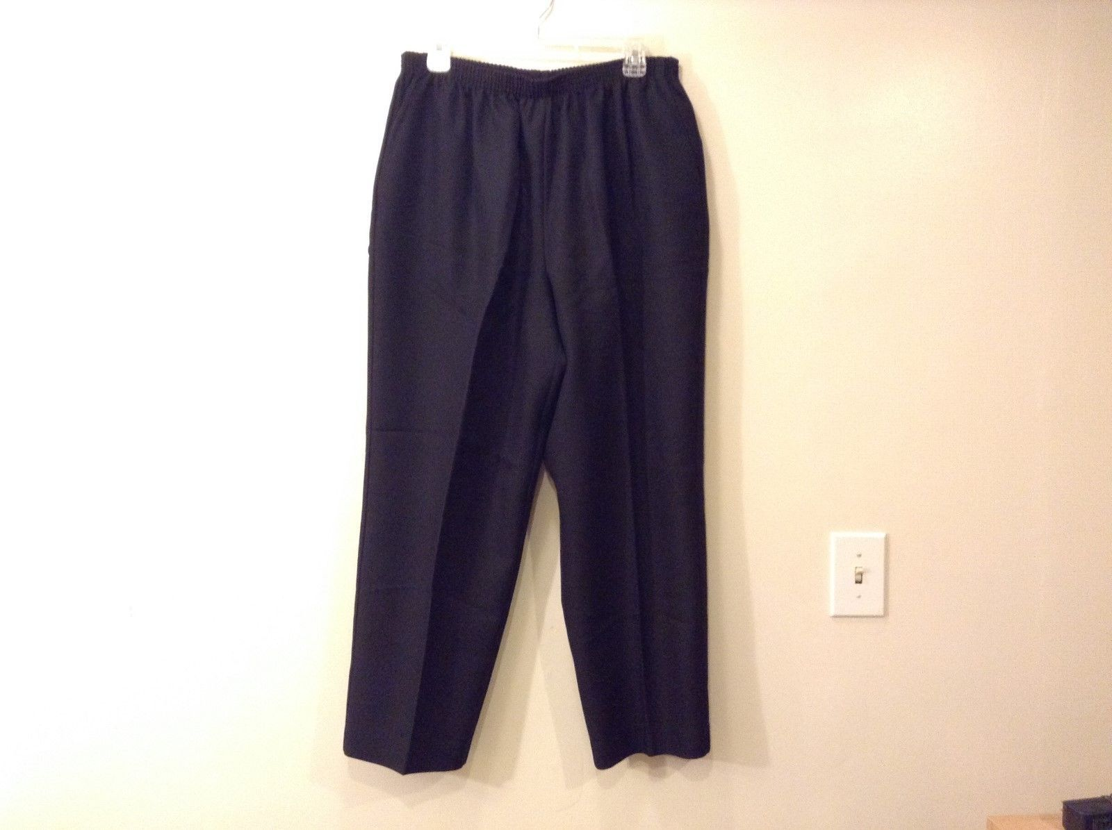 Womens Alfred Dunner Polyester Black Pants Size 18