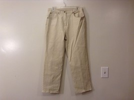 Ladies Light Tan Beige Petite Jeans Pants Sz 12P