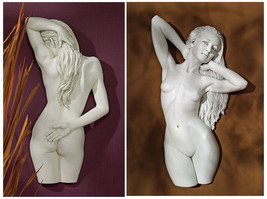 Set of 2: Sweet Submission & Seduction Nude Female Stone Finish Wall Scu... - $346.45