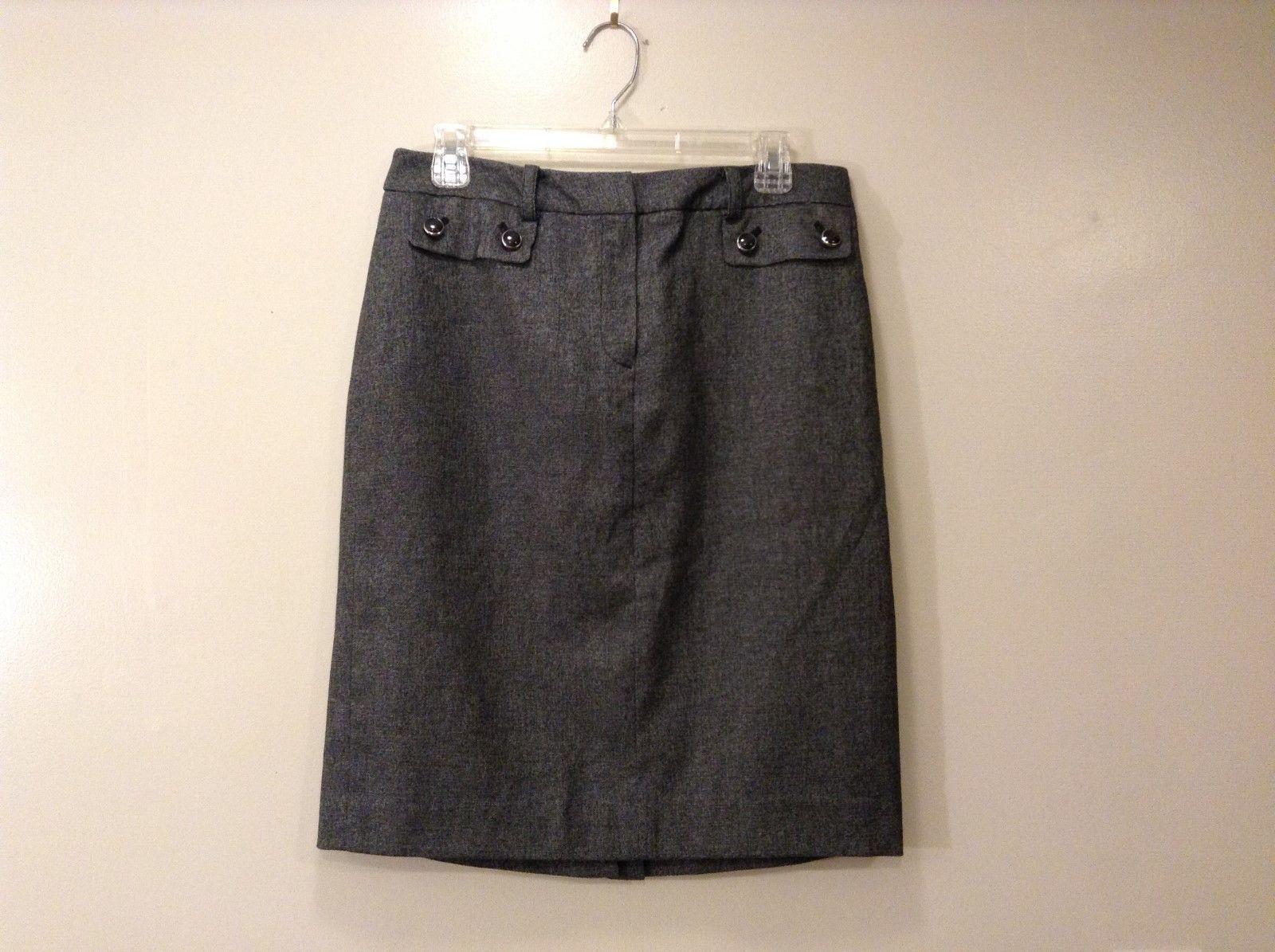 Ladies Jones New York Stretchy Gray Skirt Sz 8